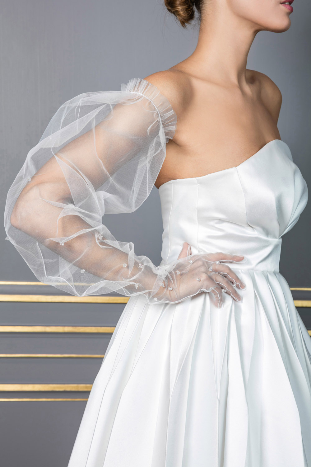 Tulle long glove